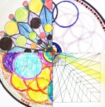 Два типа депрессий: слева - хаотические, справа - хронические. Рисунки слева полны красок, несколько беспорядочны, в них множество деталей, почти нет пустого места. Рисунки справа несколько небрежны, цвет выходит за границу рисунка, много пустот.