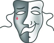 Двойственность: радость и печаль (маска)